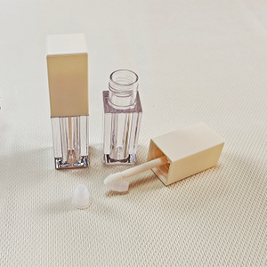 Popular Square Clear Lip Gloss Tube Packaging Containers with Wand